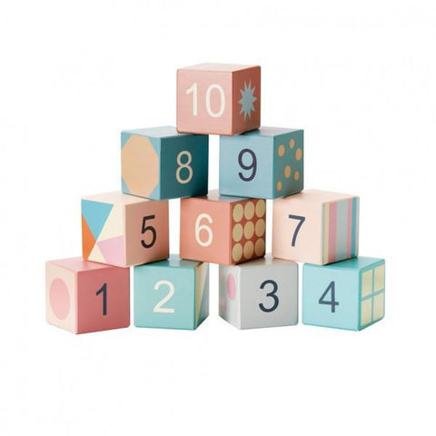 Kids Concept - Wooden Building Blocks Pastel