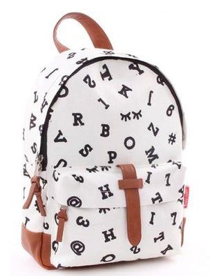 Kidzroom - Black & White numbers backpack
