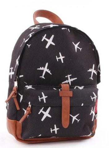 Kidzroom backpack Black & White planes