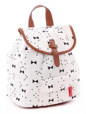 Kidzroom - Black & White bows backpack trendy