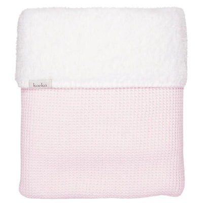 Koeka - Blanket Vizela Teddy Water Pink/White