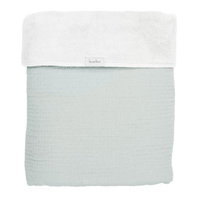Koeka - Blanket Elba Teddy Soft Mint/White