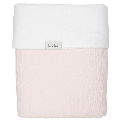 Koeka - Blanket Elba Teddy Water Pink/White