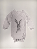 Miss Princess and Little Frog - Cross-over Baby Romper TENCEL long sleeves Rabbit