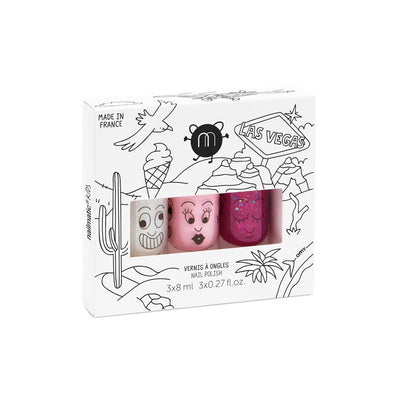 Nailmatic - Las Vegas Nail Polish Set water based