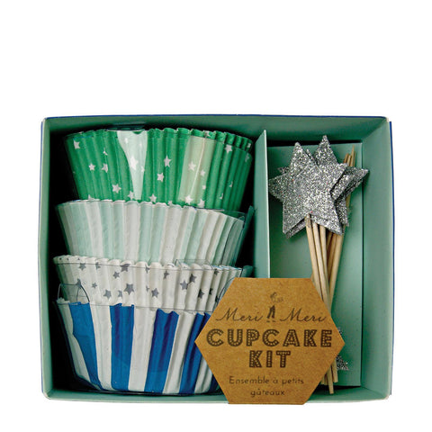 Meri Meri - Toot Sweet Blue Cupcake Kit