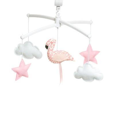Pouce et Lina - Musical Mobile Coral flamingo and Pink Stars
