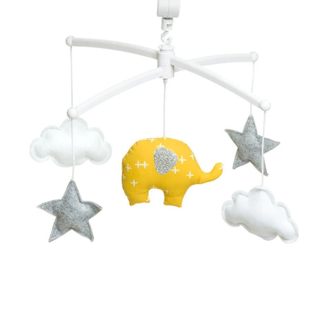 Pouce et Lina - musical mobile YELLOW ELEPHANT