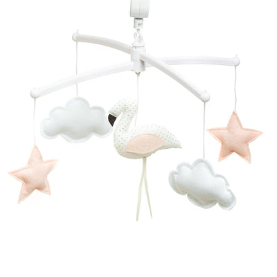 Pouce et Lina - Musical Mobile White Flamingo