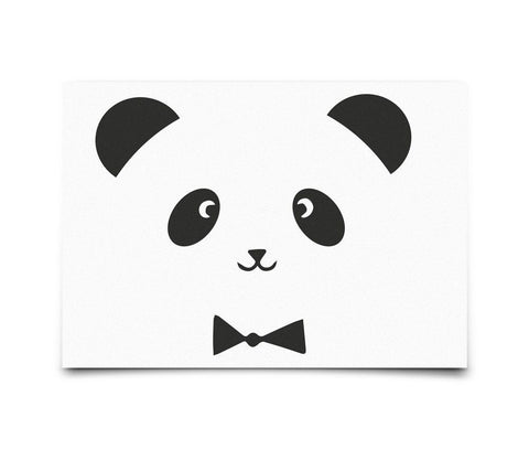 Postcard Eef Lillemor Monochrome Animals - Panda