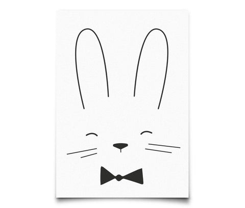 Postcard Eef Lillemor Monochrome Animals - Rabbit