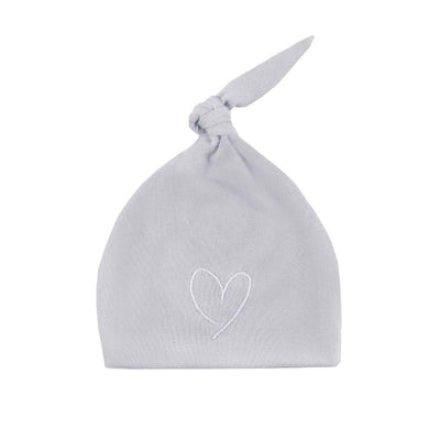 Effiki - Newborn Hat Gray With White Heart