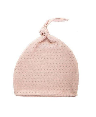 Effiki - Newborn Hat Pink In Gray Dots
