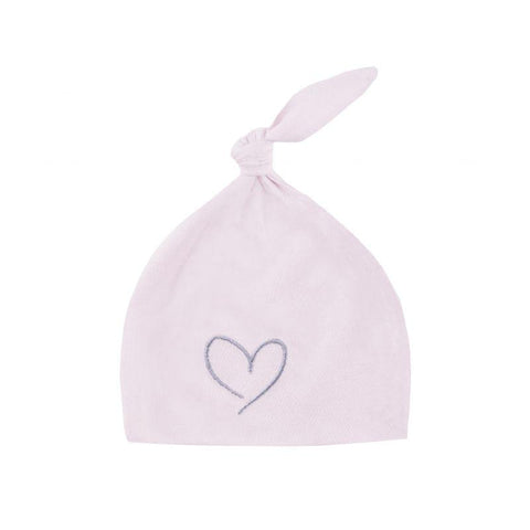 Effiki - Newborn Hat Powder Pink With Heart