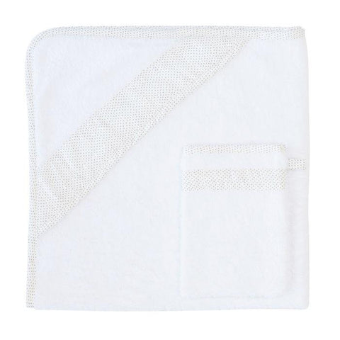Les Rêves d'Anaïs - Hooded Towel + Washcloth Dots
