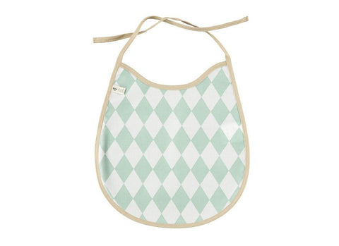 Bib oilcloth Nobodinoz Green Diamonds
