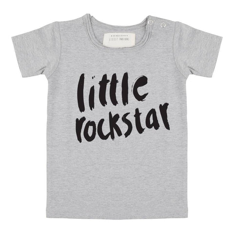 Little Indians - T-Shirt Little Rockstar Grey melange
