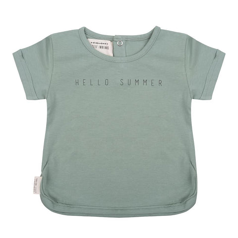 Little Indians - T Shirt Hello Summer Soft Green