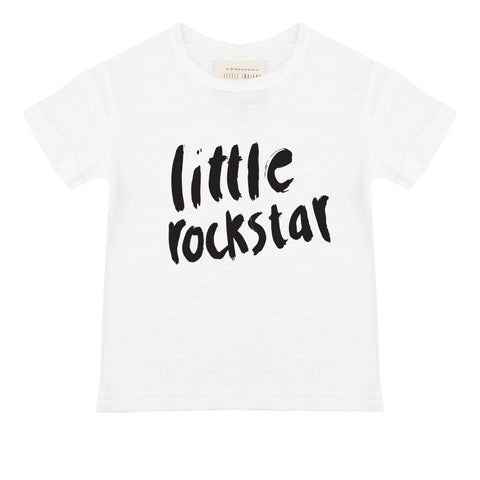 Little Indians - T-Shirt Little Rockstar White