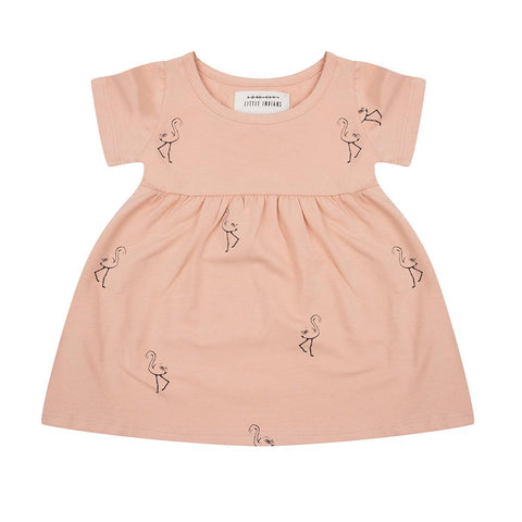 Little Indians - Dress Flamingo Dusty Coral