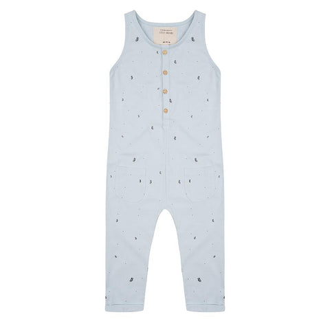 Little Indians - Jumpsuit Palm Leaves Baby Blue