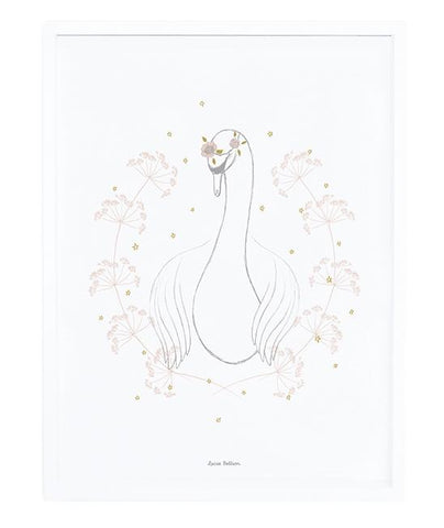 Lilipinso - Framed Poster Botany Swan