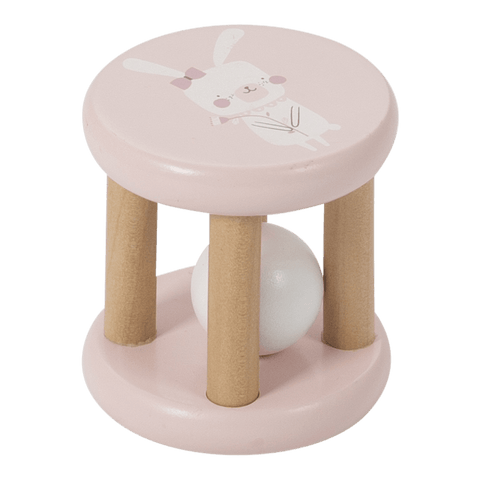 Little Dutch - Wooden Roller Rattle Adventure Pink