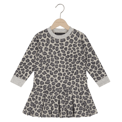 House Of Jamie - Pleated Dress Rocky Leopard