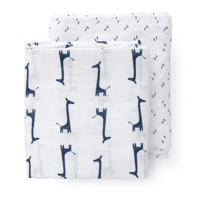 Fresk - Swaddle Set 2 pieces Giraf Indigo Blue