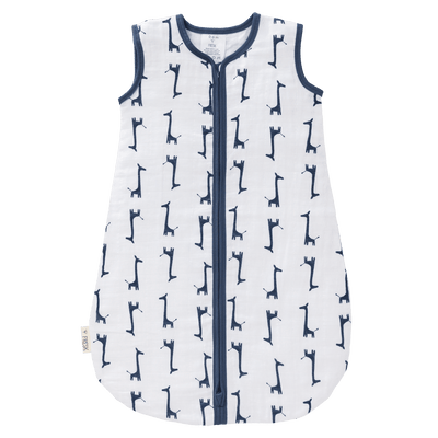 Fresk - Sleeping Bag Summer Muslin Giraf Indigo Blue