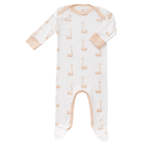 Fresk - Pyjamas With Feet Swan Pale Peach