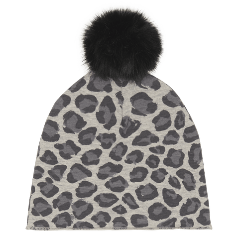 House Of Jamie - Pom Pom Hat Rocky Leopard