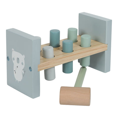 Little Dutch - Wooden Hammer Bench Blue