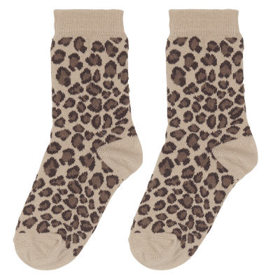 House Of Jamie - Socks Caramel Leopard