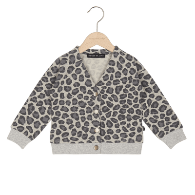 House Of Jamie - Button Cardigan Rocky Leopard