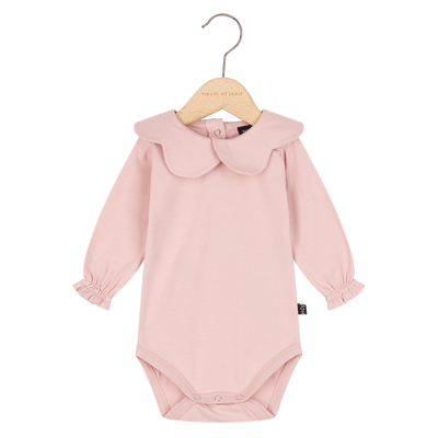 House Of Jamie - Scallop Bodysuit Powder Pink