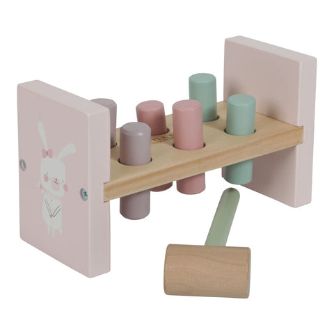 Little Dutch - Wooden Hammer Bench Pink