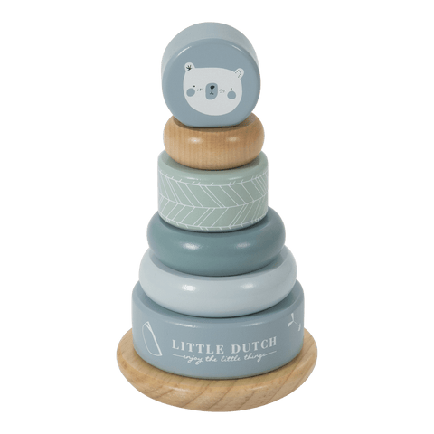 Little Dutch - Wooden Rocking Ring Stacker Adventure Blue