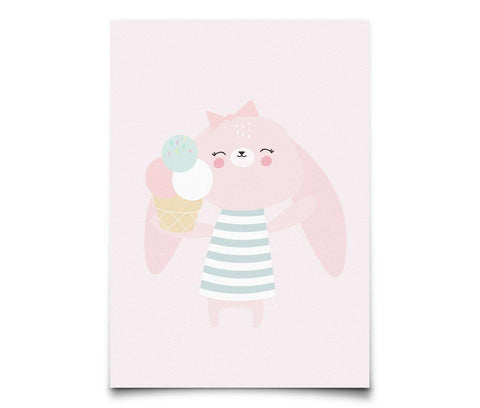 Postcard Eef Lillemor Party Animals - Bunny