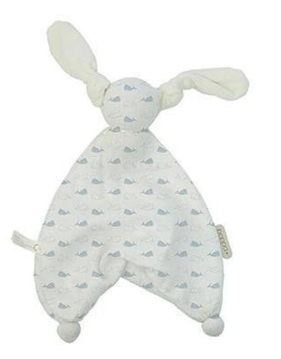 Hoppa - Floppy Muslin Whale White/Soft Blue