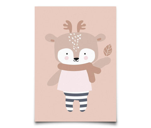Eef Lillemor - Postcard Winter Deer