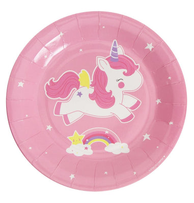 A Little Lovely Company - Celebrations Plates Unicorn