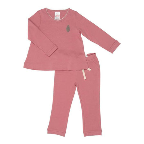 Koeka - Pyjamas Leaf Girls Old Pink