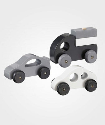 Kids Concept - Set of 3 Wooden Cars