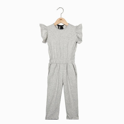 House of Jamie - Ruffled Jumpsuit Stone