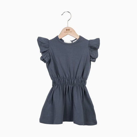 House of Jamie - Ruffled Summer Dress Vintage Grey