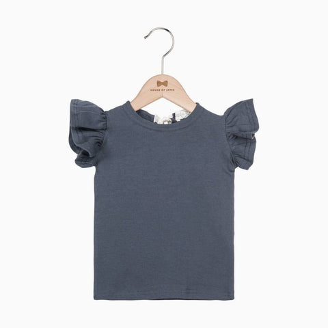 House of Jamie - Ruffled T-Shirt Vintage Grey