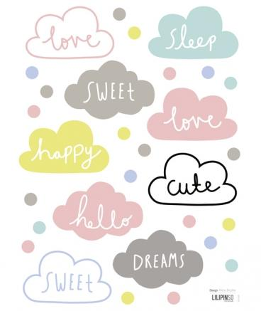 Lilipinso - Wall Sticker Clouds Multicolor