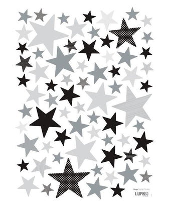 Lilipinso - Wall Sticker Stars Grey