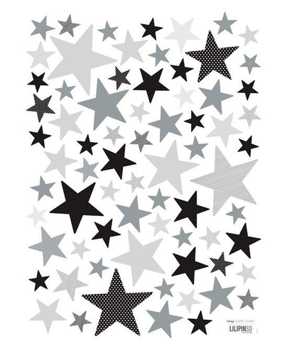 Wall Sticker Stars Grey